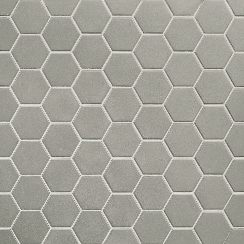 Mosaïque sol et mur Hexagonale taupe Wild Sage mat 30x30 cm