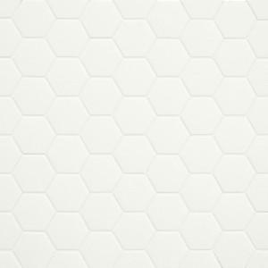 Mosaïque sol et mur Hexagonale blanc Lemon Sorbet mat 30x30 cm