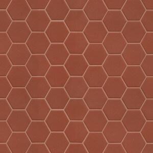 Mosaïque sol et mur Hexagonale rouge Rusty Red mat 30x30 cm