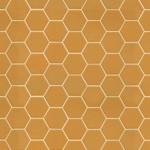 Mosaïque sol et mur Hexagonale jaune Yellow Corn mat 30x30 cm