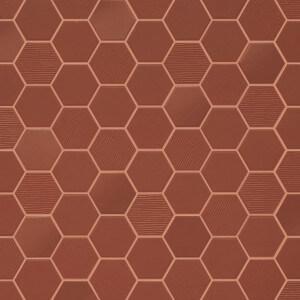 Mosaïque mix sol et mur Hexagonale rouge Rusty Red 30x30 cm