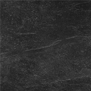 Carrelage sol et mur antidérapant aspect pierre noir Slate Rock Black 60x60 cm