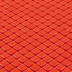 Mosaïque mur rouge en verre Caire brillant 30x30 cm