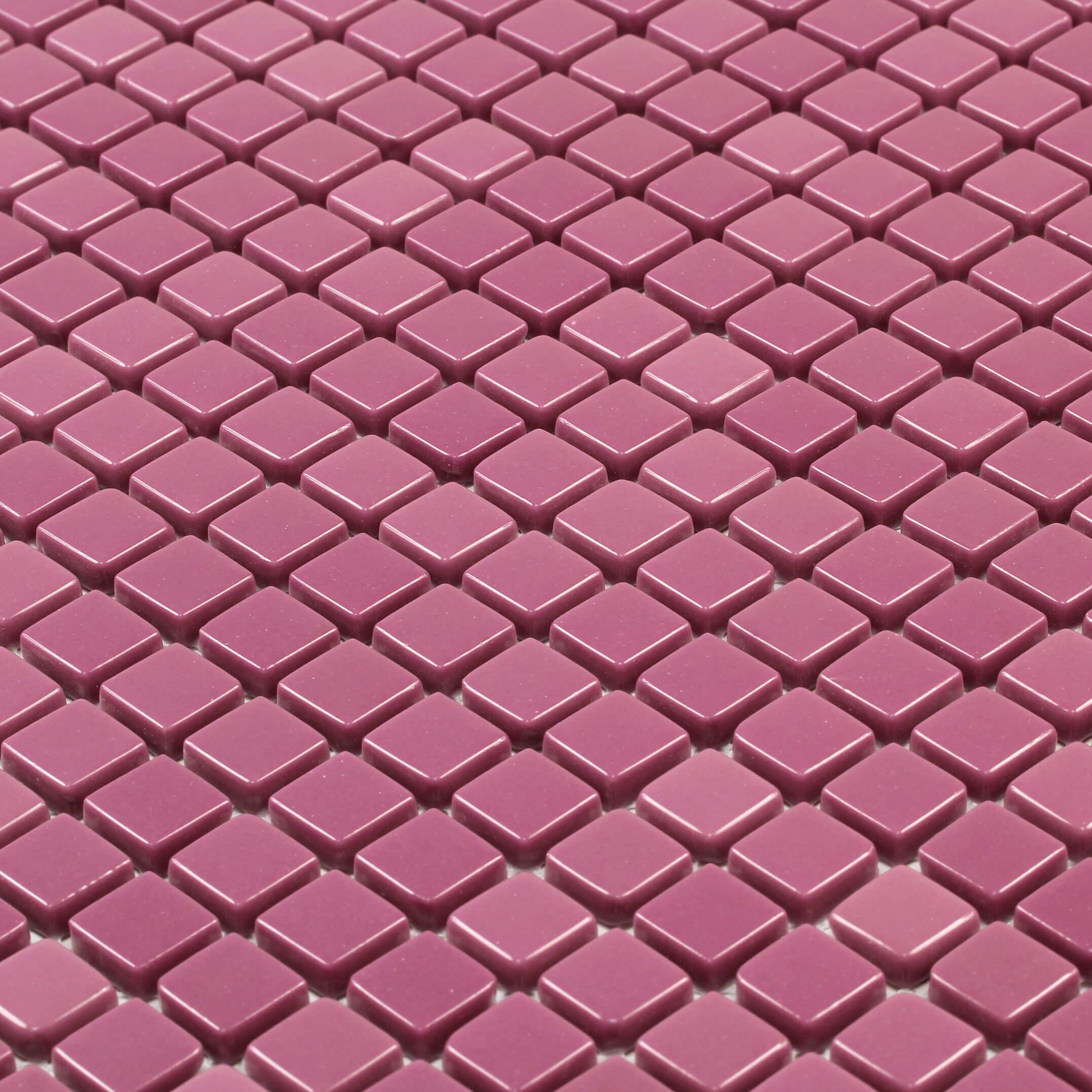 Mosaïque mur rose en verre Tunis brillant 30x30 cm
