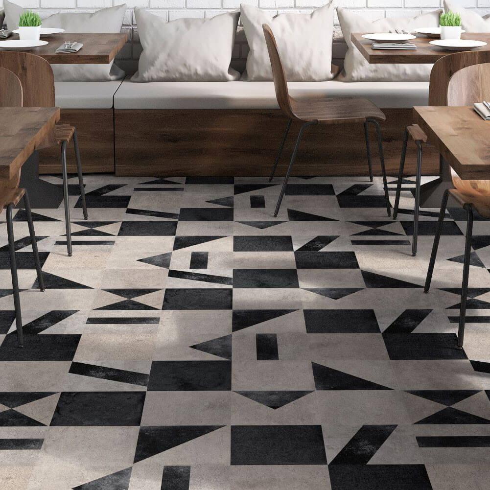 Carrelage sol et mur aspect carreau ciment vieilli Vinci Mix 25x25 cm