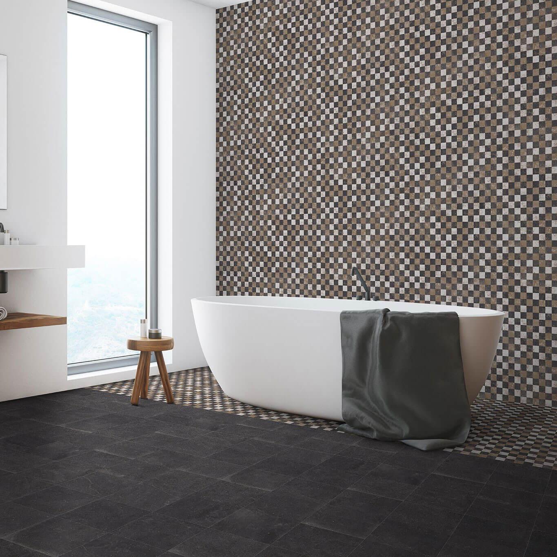 Carrelage sol et mur aspect carreau ciment vieilli Cartuja Mix 25x25 cm