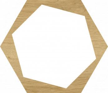 Carrelage sol et mur hexagonal aspect parquet Verona Move 23x27 cm