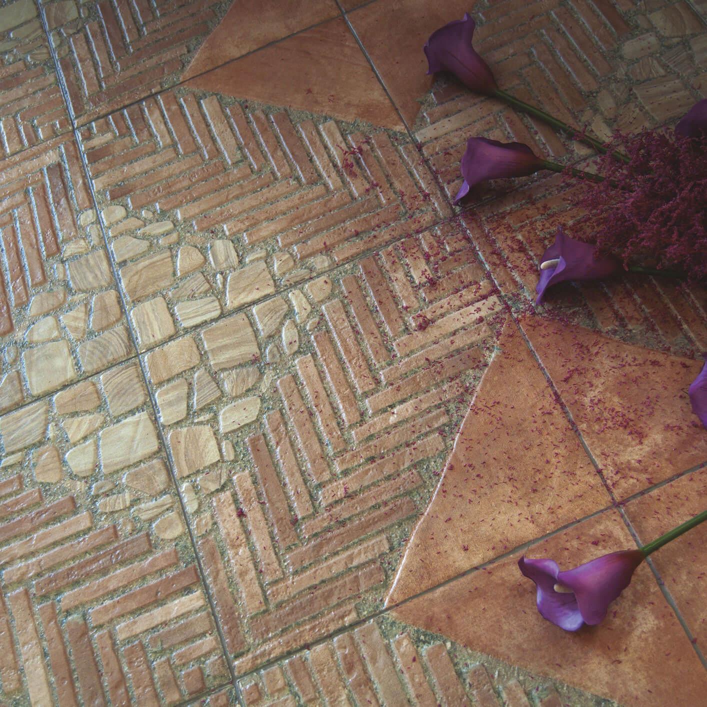 Carrelage sol exterieur aspect pavé Siam Cotto 45x45 cm antidérapant