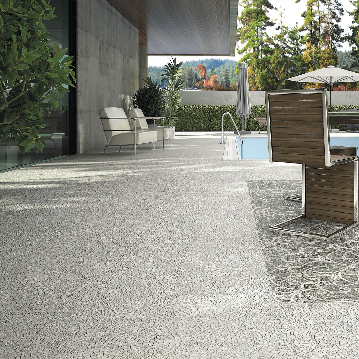 Carrelage sol exterieur aspect pavé gris Sydney Pearl 45x45 cm antidérapant