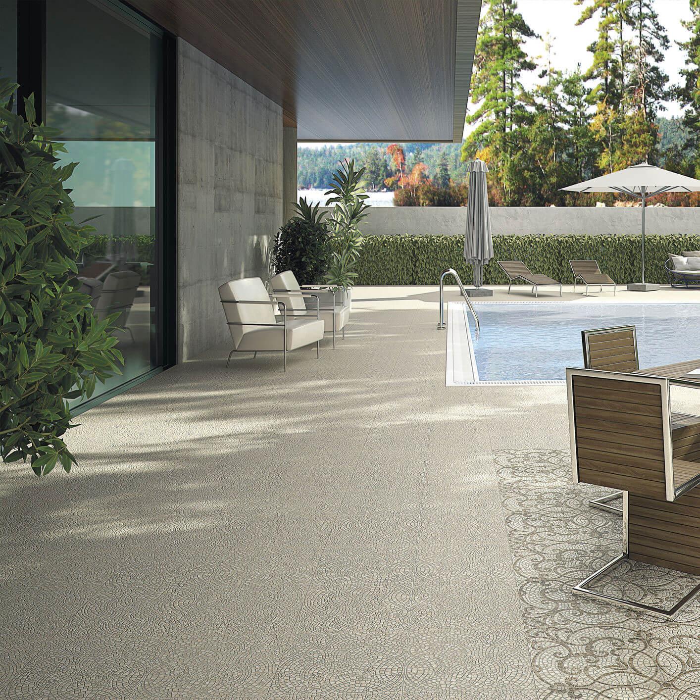 Carrelage sol exterieur aspect pavé beige Sydney Sand 45x45 cm antidérapant