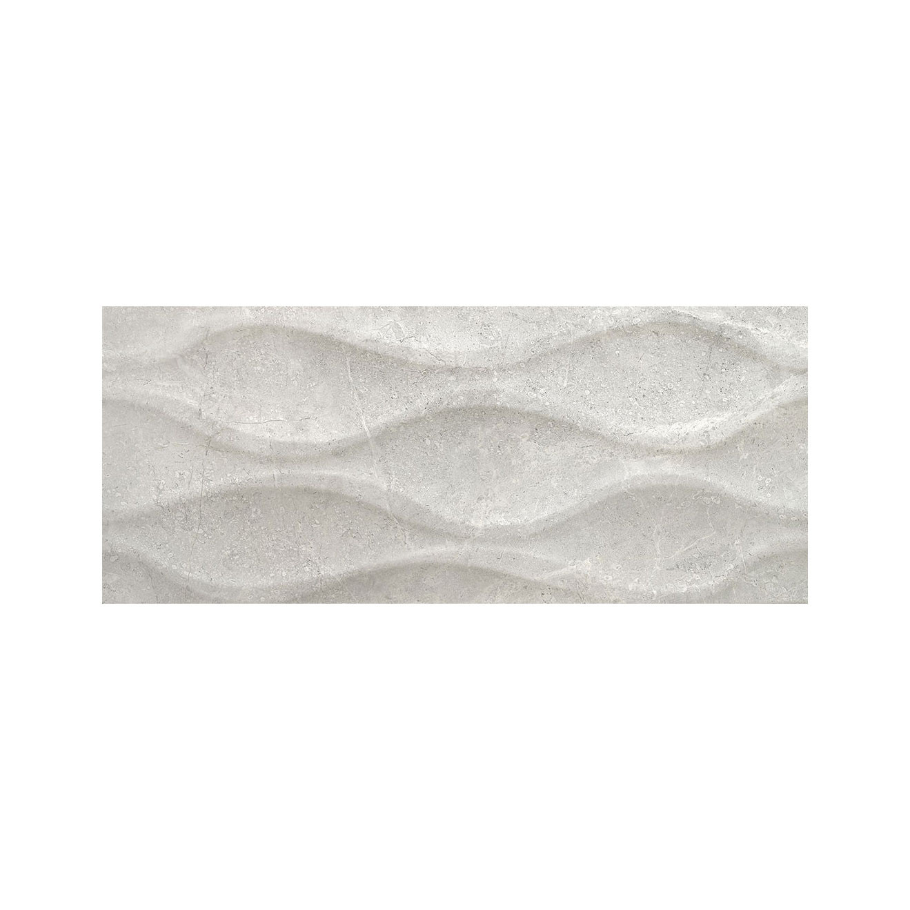 Carrelage mural gris Relieve Luxe Pearl Brillant 25x60 cm