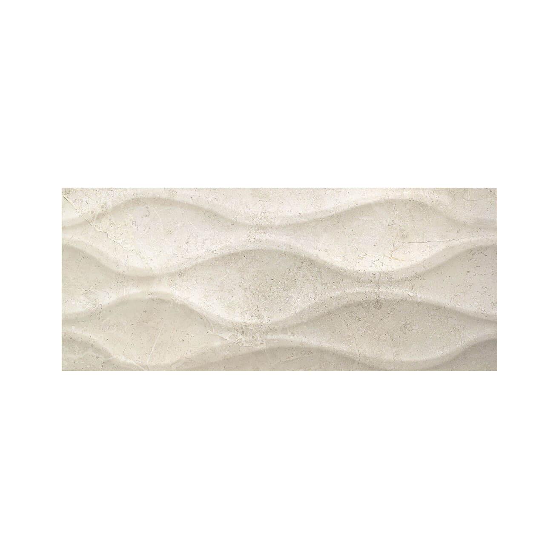 Carrelage mural beige Relieve Luxe Ivory Brillant 25x60 cm