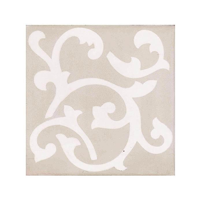 Carreau ciment décor gris clair motifs Light Ronce 20x20 cm (FL018A)