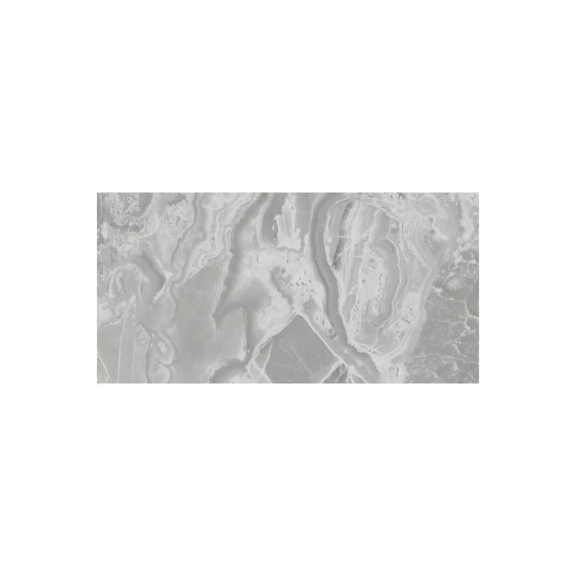 Carrelage sol et mur poli aspect marbre gris Supreme Grey 60x120 cm rectifié