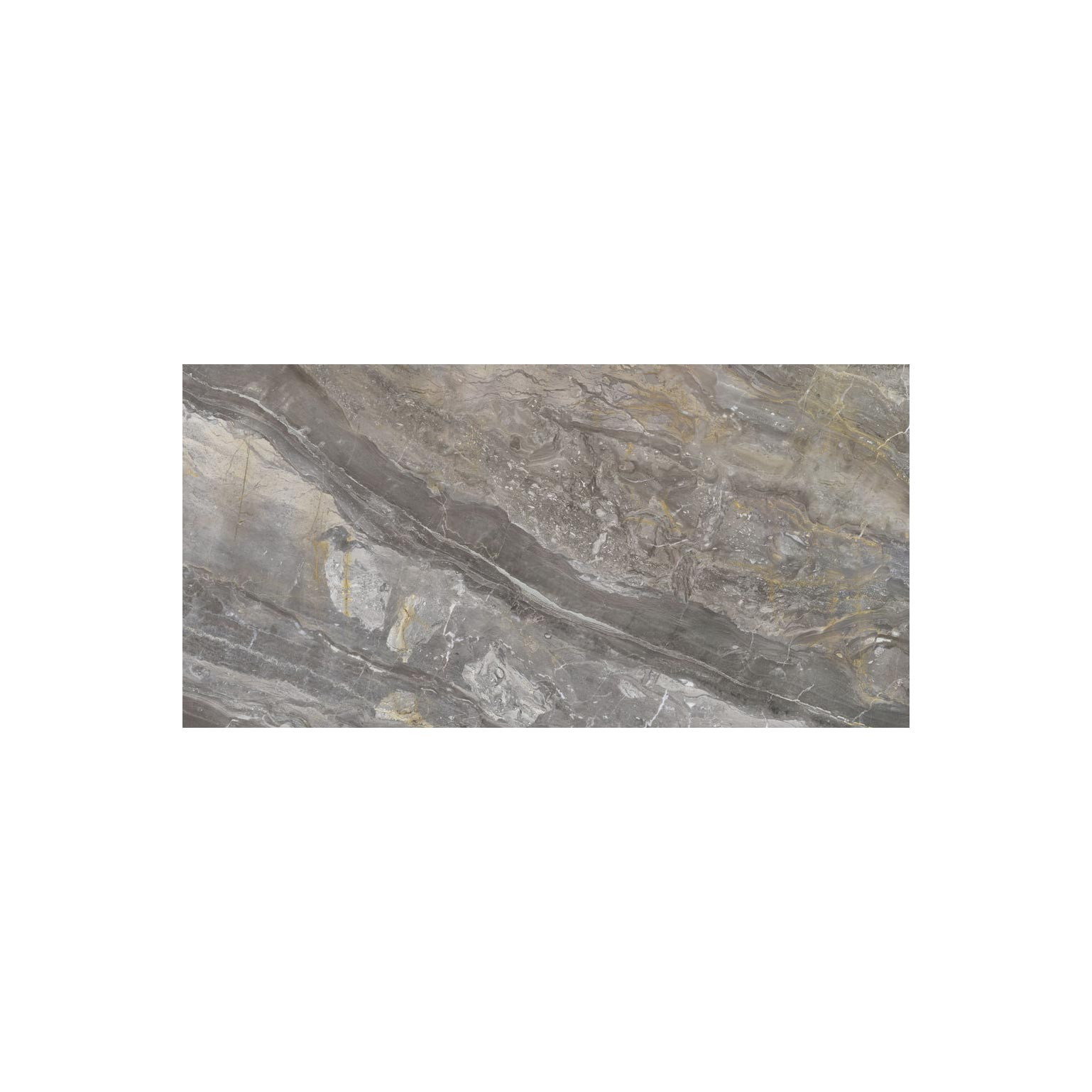 Carrelage sol et mur poli aspect marbre Luxury Beige 60x120 cm rectifié