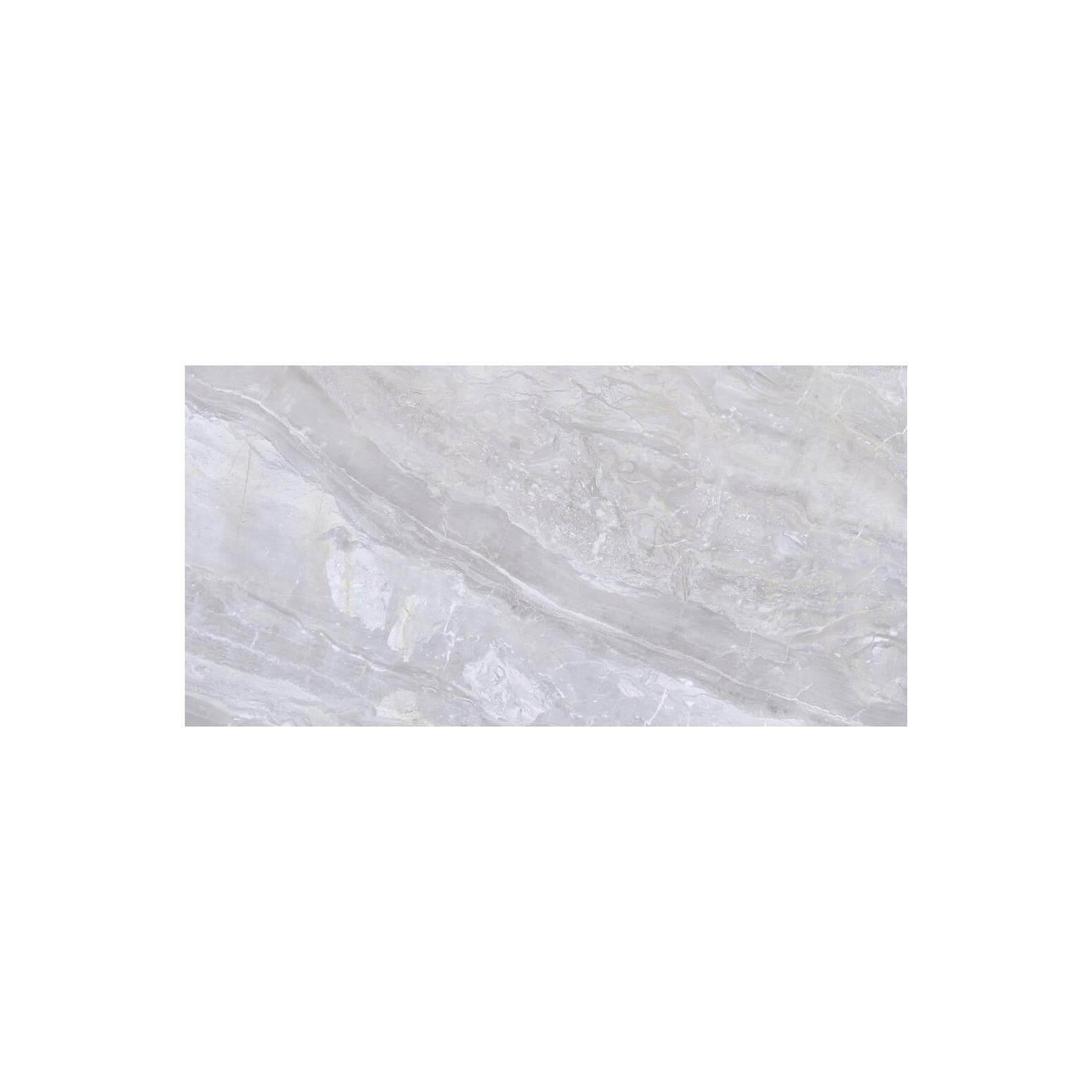 Carrelage sol et mur poli aspect marbre Luxury White 60x120 cm rectifié