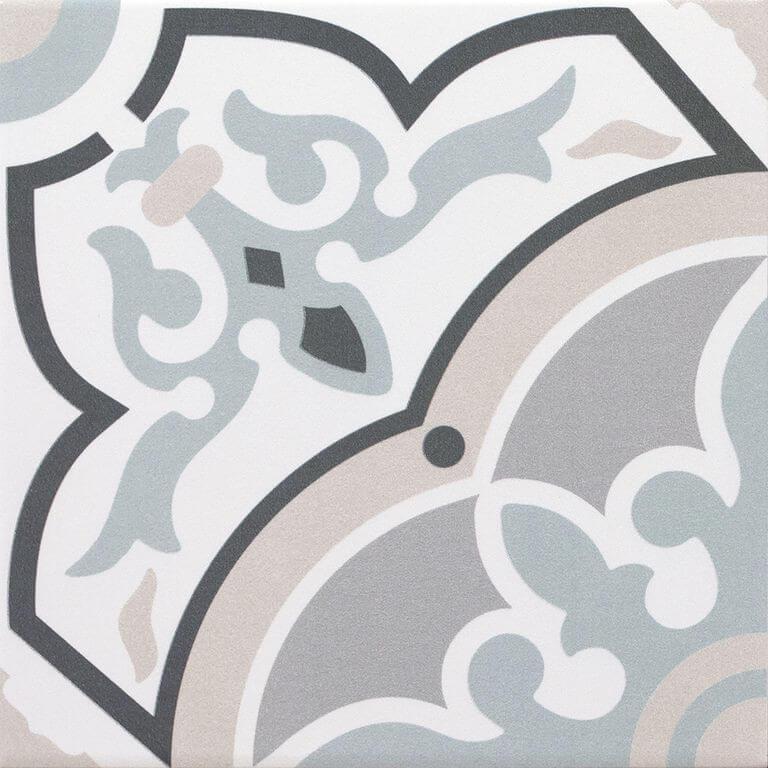 Carrelage sol et mur aspect carreau ciment Decoro urban Alba