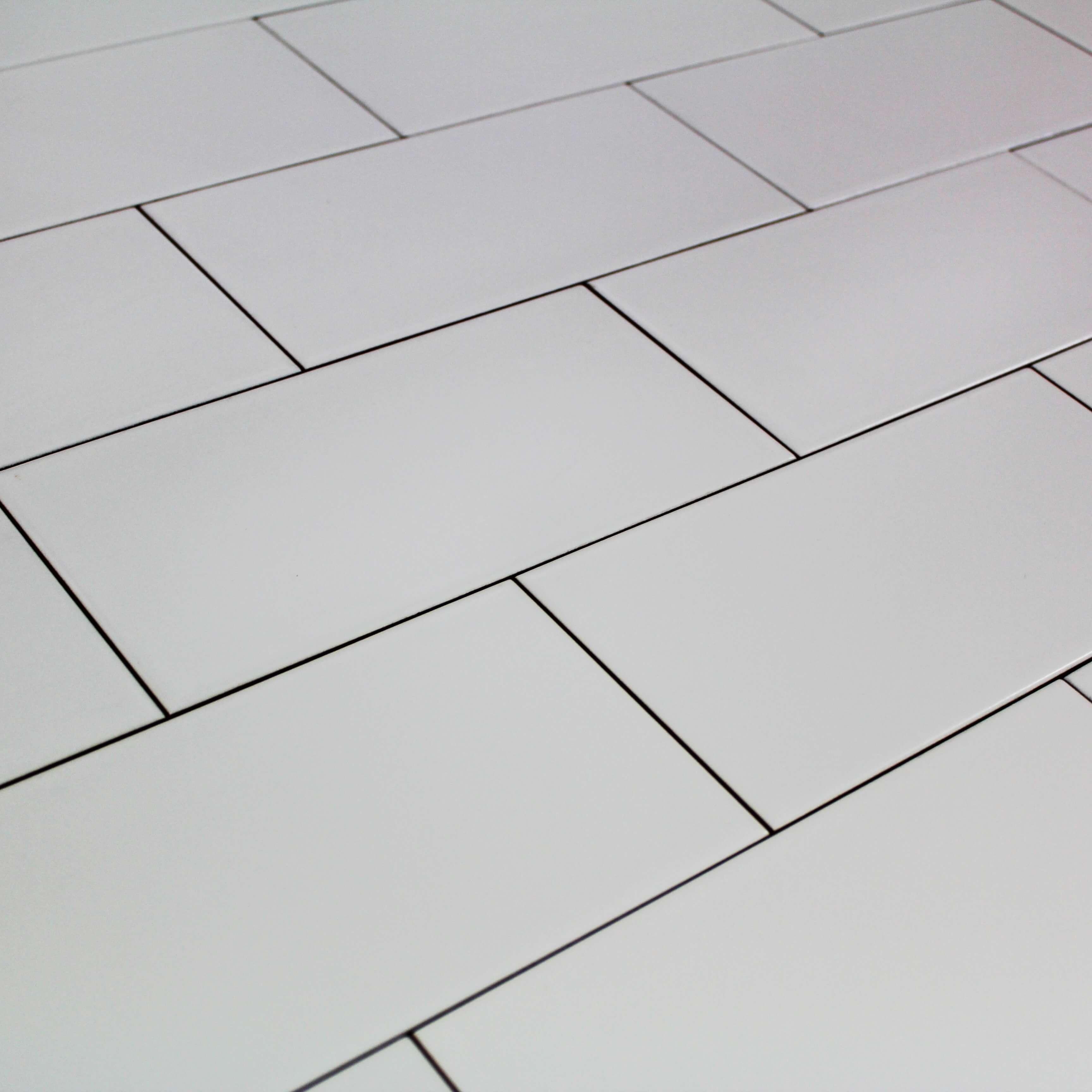 Carrelage Métro Lisse Blanc Mat