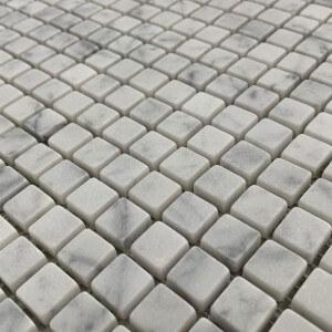Mosaïque mur Marbre Vieilli Carrare Blanc