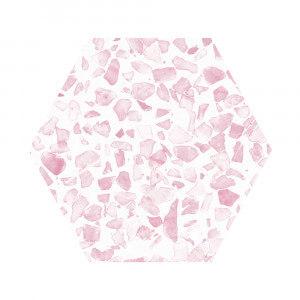 Carrelage aspect Terrazzo Riazza Hex Pink Mat 23,2x26,7 cm