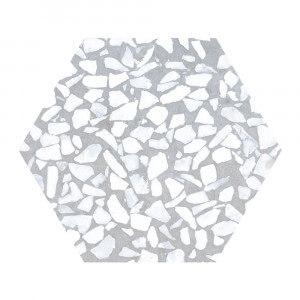 Carrelage aspect Terrazzo Riazza Hex Azulio Mat 23,2x26,7 cm
