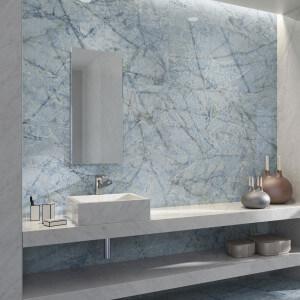 Carrelage aspect marbre Atlantis Blue Pul 60x120 cm