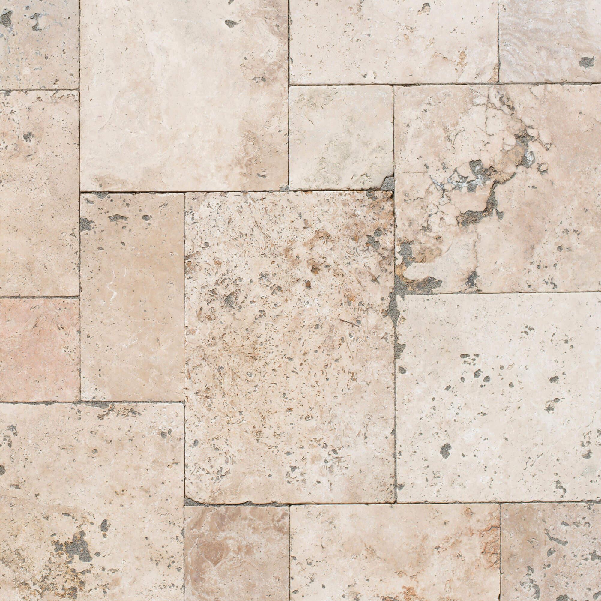 Carrelage sol et mur Travertin naturel Mix Opus