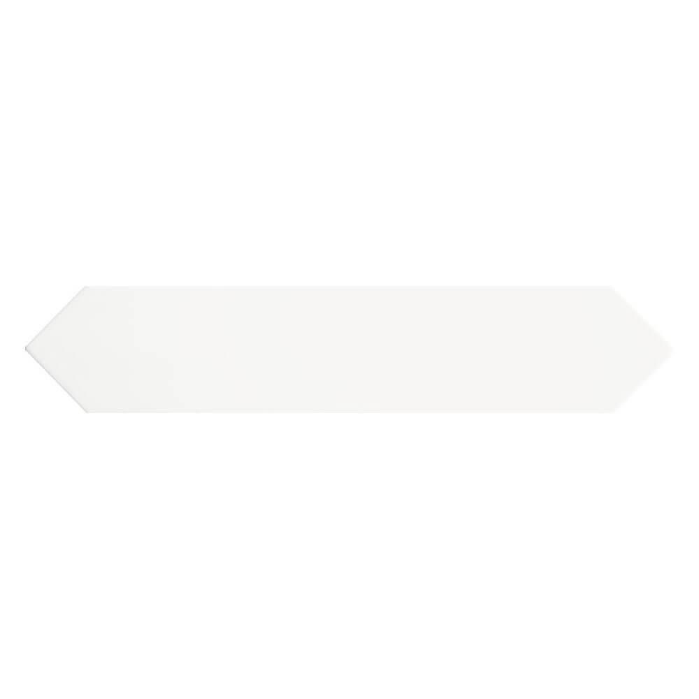Carrelage aspect zellige Dimsey white 6,5x33,2 cm