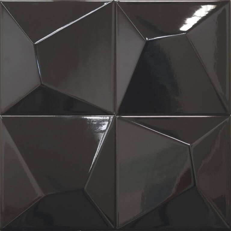 Carrelage noir Vertex Line Black 15x15 cm