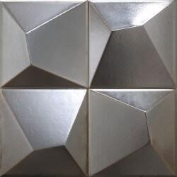 Carrelage métallique Vertex Line Silver 15x15 cm