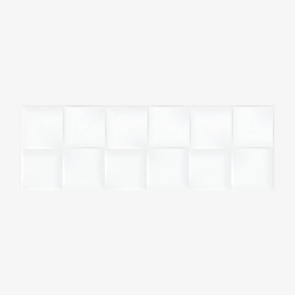Carrelage blanc uni Remake Brillo 20x60 cm