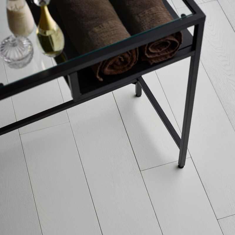 Parquet Contrecollé Blanc de Blanc vernis mat 15x189 mm
