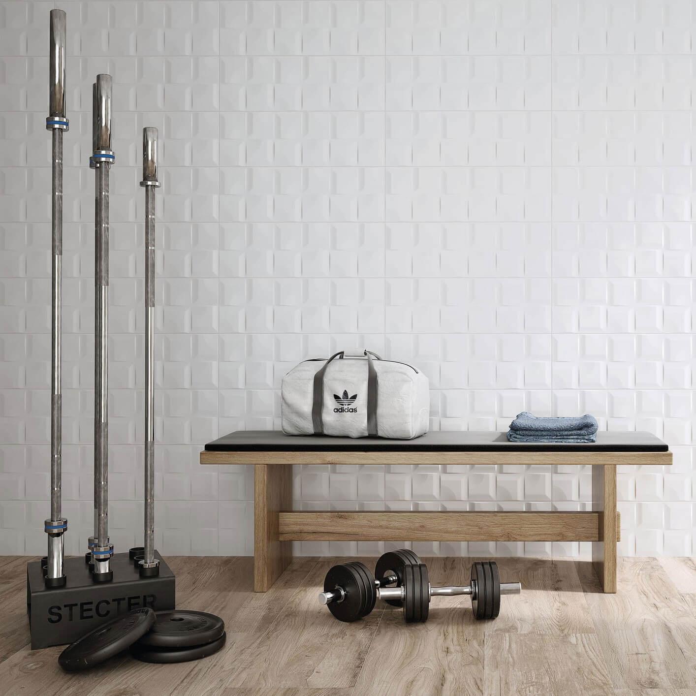 Carrelage blanc uni Remake Mat 20x60 cm