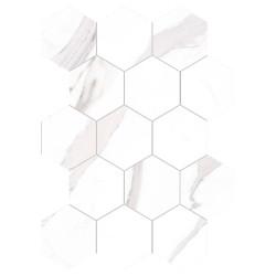 Mosaïque hexagonal Mos statuary brillant 30x30 cm