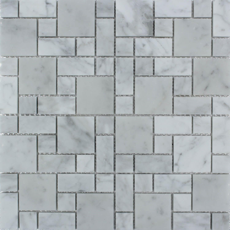Mosaïque Marbre blanc Vesuve 30x30 cm