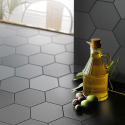 Carrelage hexagonal Kromatica Gris souris mat 11,6x10,1 cm