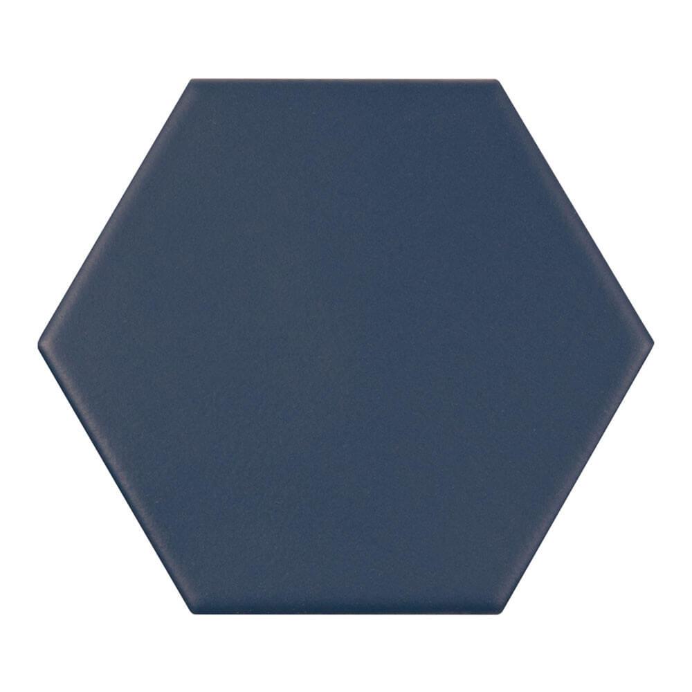 Carrelage hexagonal Kromatica Bleu navy mat 11,6x10,1 cm