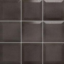 Carrelage Memphis Noir mat 10x10 cm