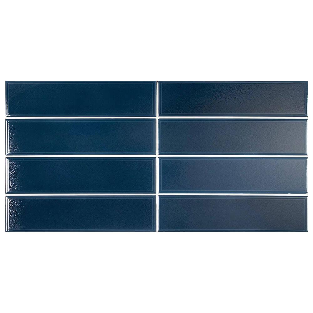 Carrelage Limit Bleu nuit 6x24.6 cm