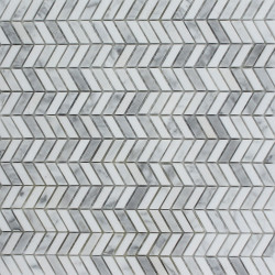 Mosaïque Morvan blanc marbre 30x30 cm