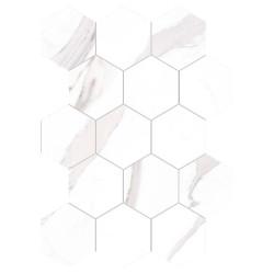 Mosaïque hexagonal statuary Mat 30x30 cm