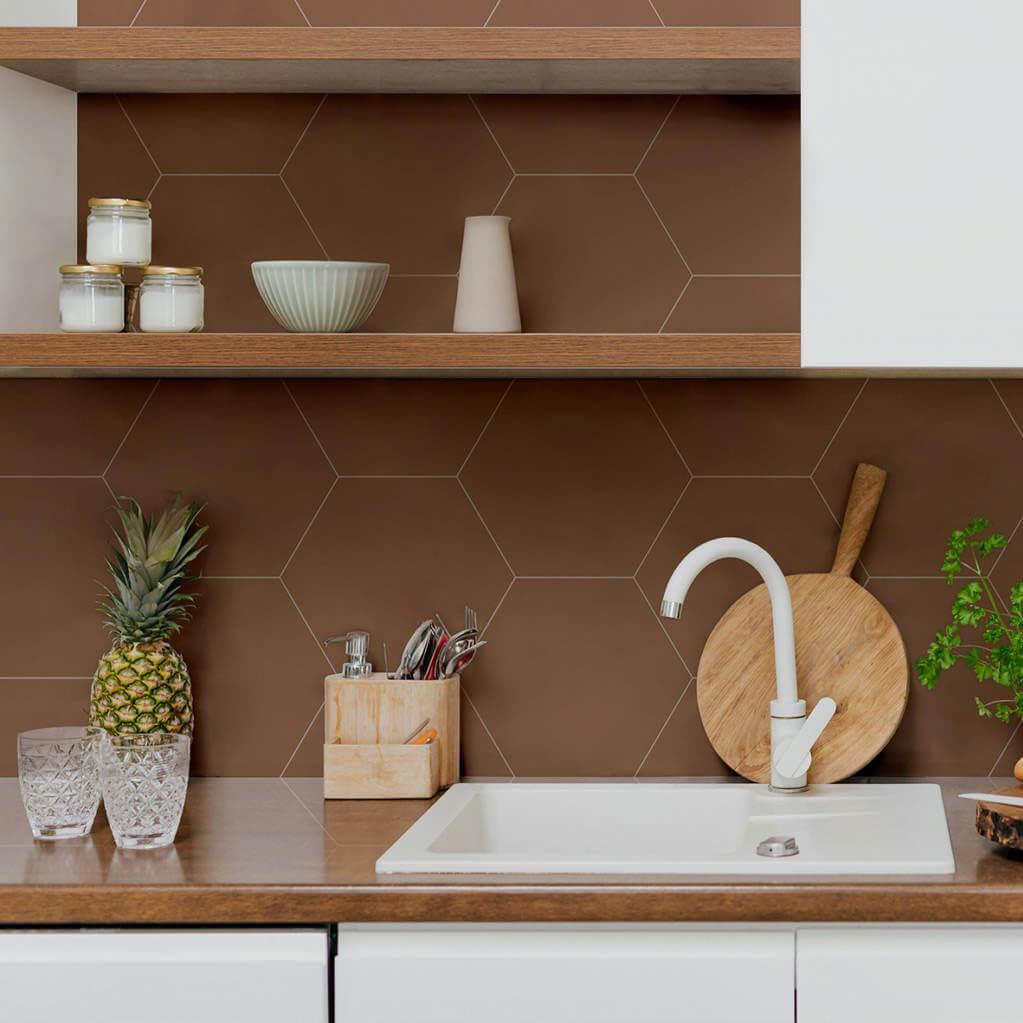 Carrelage hexagonal Element Terra 23x27 cm